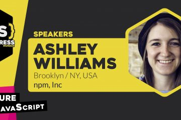 JS Kongress Keynote Speaker announcement: Ashley Williams joins the lineup